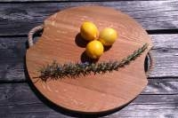 430mm French oak pizza platter